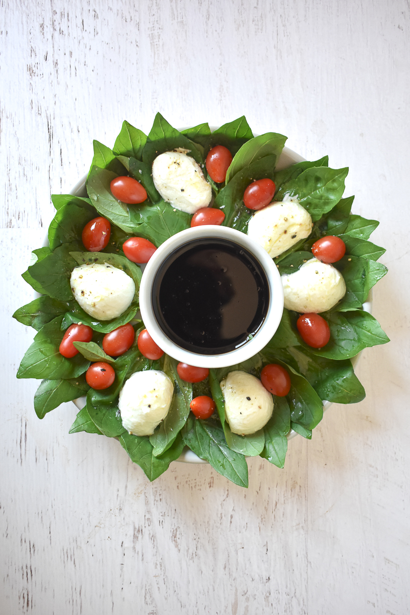 24 Days of Christmas - Caprese Wreath 1