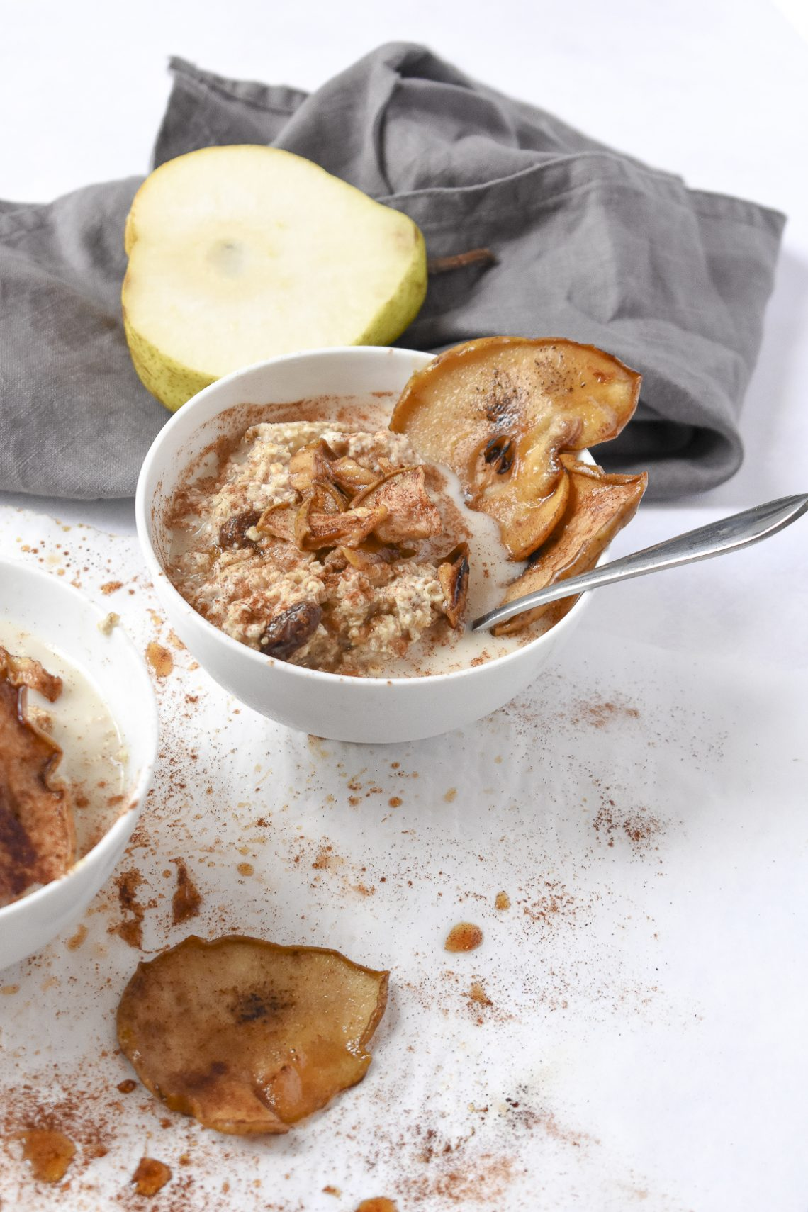 Pear, Cinnamon and Maple Overnight Oats