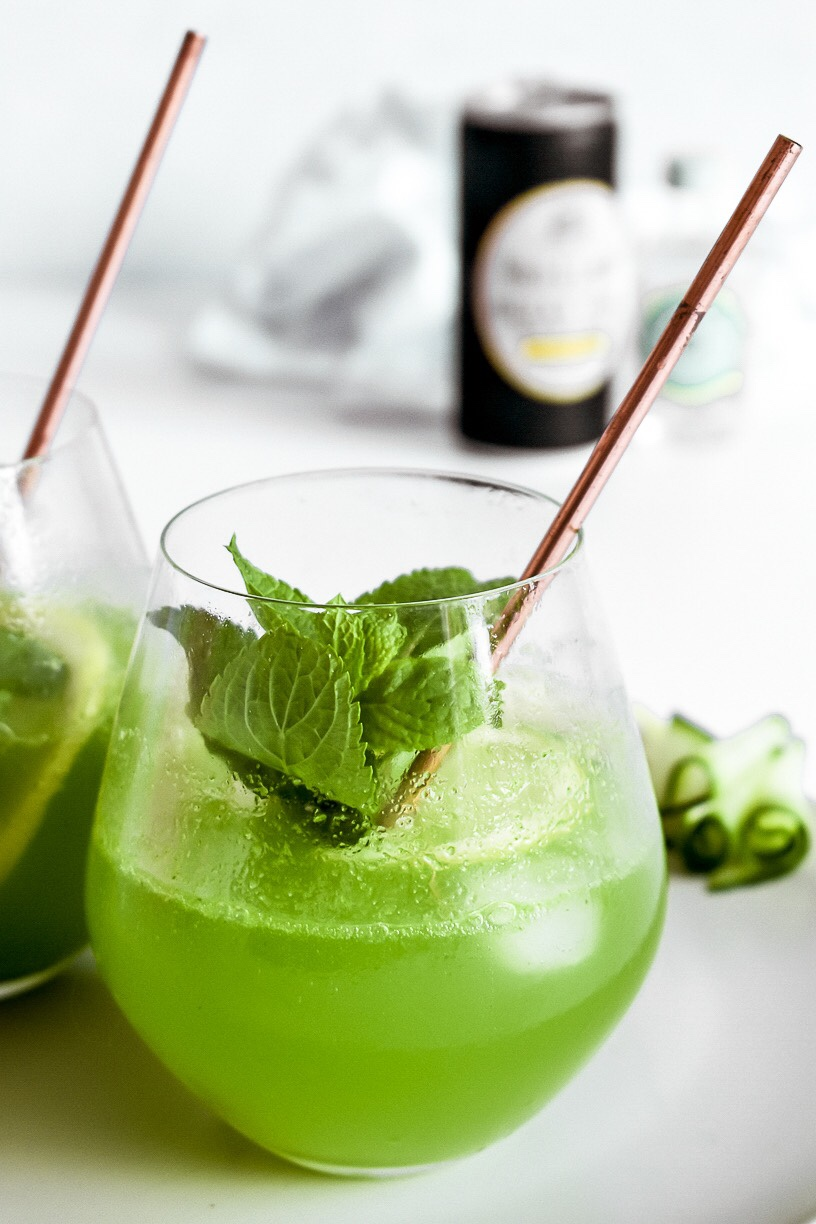 Cucumber & Mint Gin Cocktails