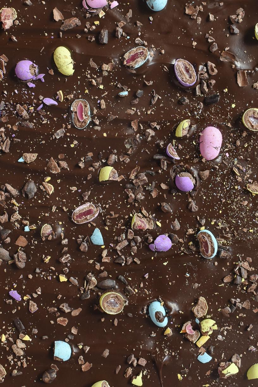 Speckled Egg & Cocoa Nib Bark