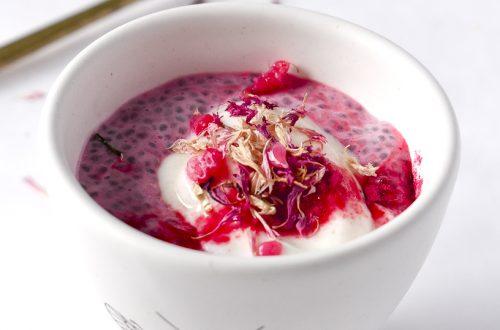 Raspberry Powder Chia Pudding