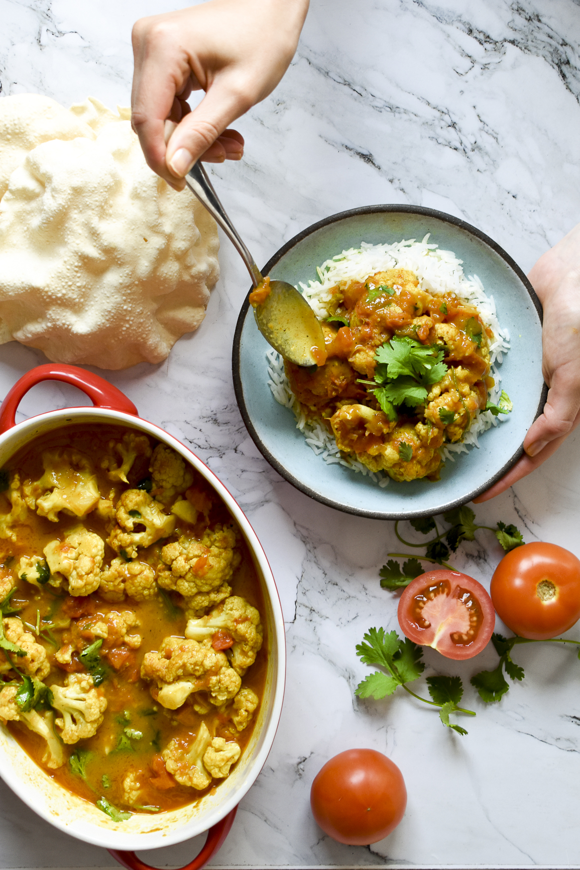 Creamy Tomato Butter 'Chicken' Curry