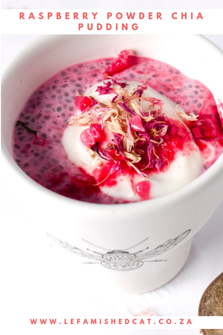 Raspberry Powder Chia Pudding 4