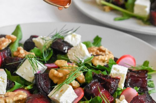 Vibrant Beet Radish and Walnut Salad 15