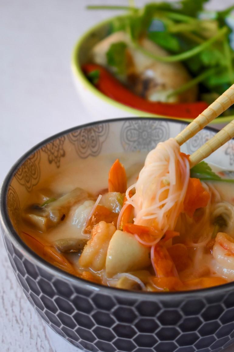 Inspired by Street Food Netflix: Creamy Tom Yum Soup 4