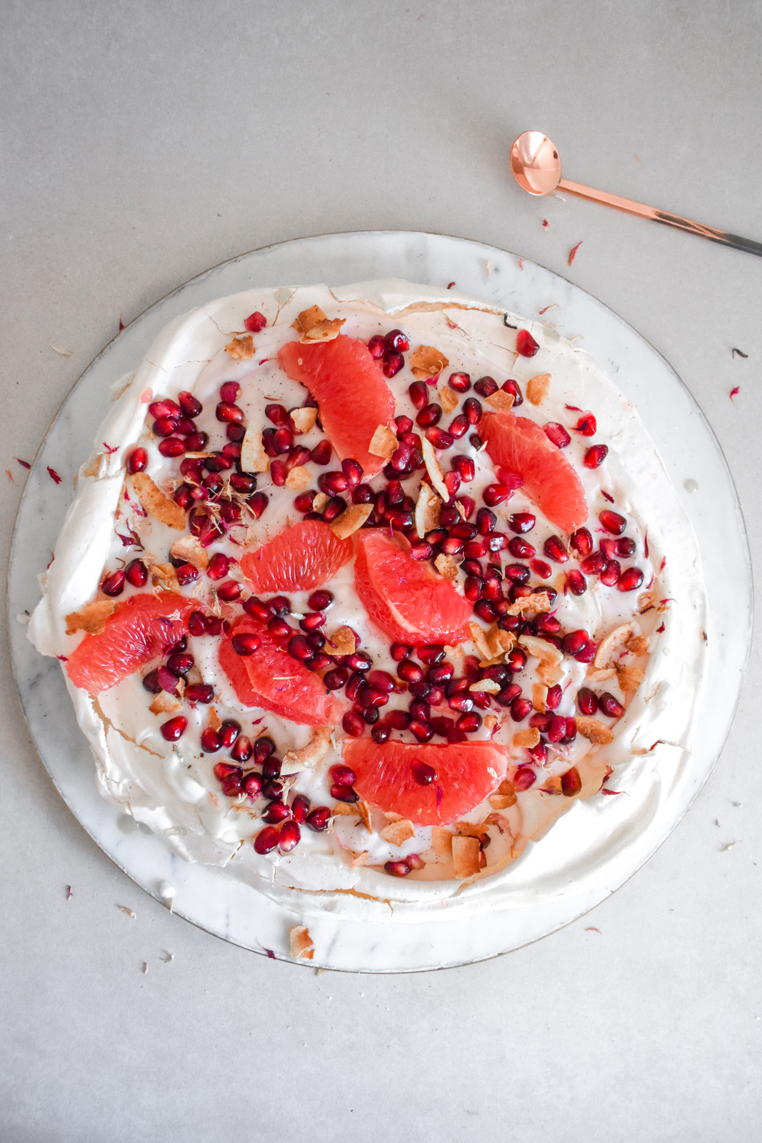 Grapefruit & Pomegranate Pavlova