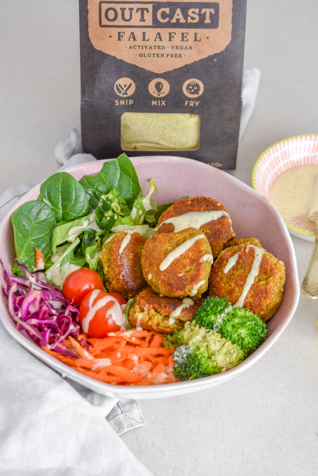 Making Falafel with Outcast Food's Easy Mix