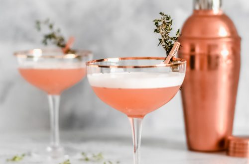 Rose Gold Valentines Gin Cocktails