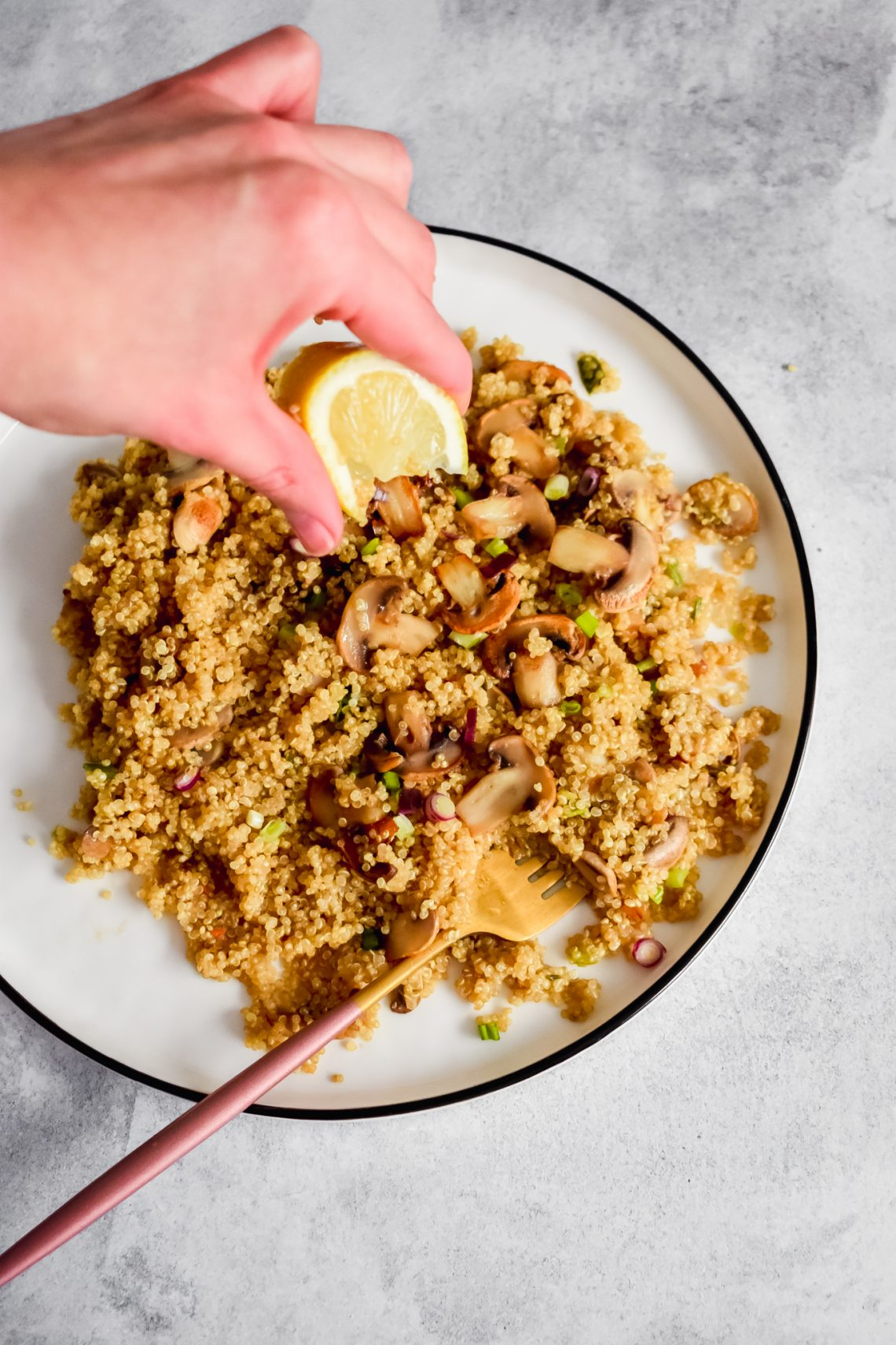Make Toasty Mushrooms & Quinoa
