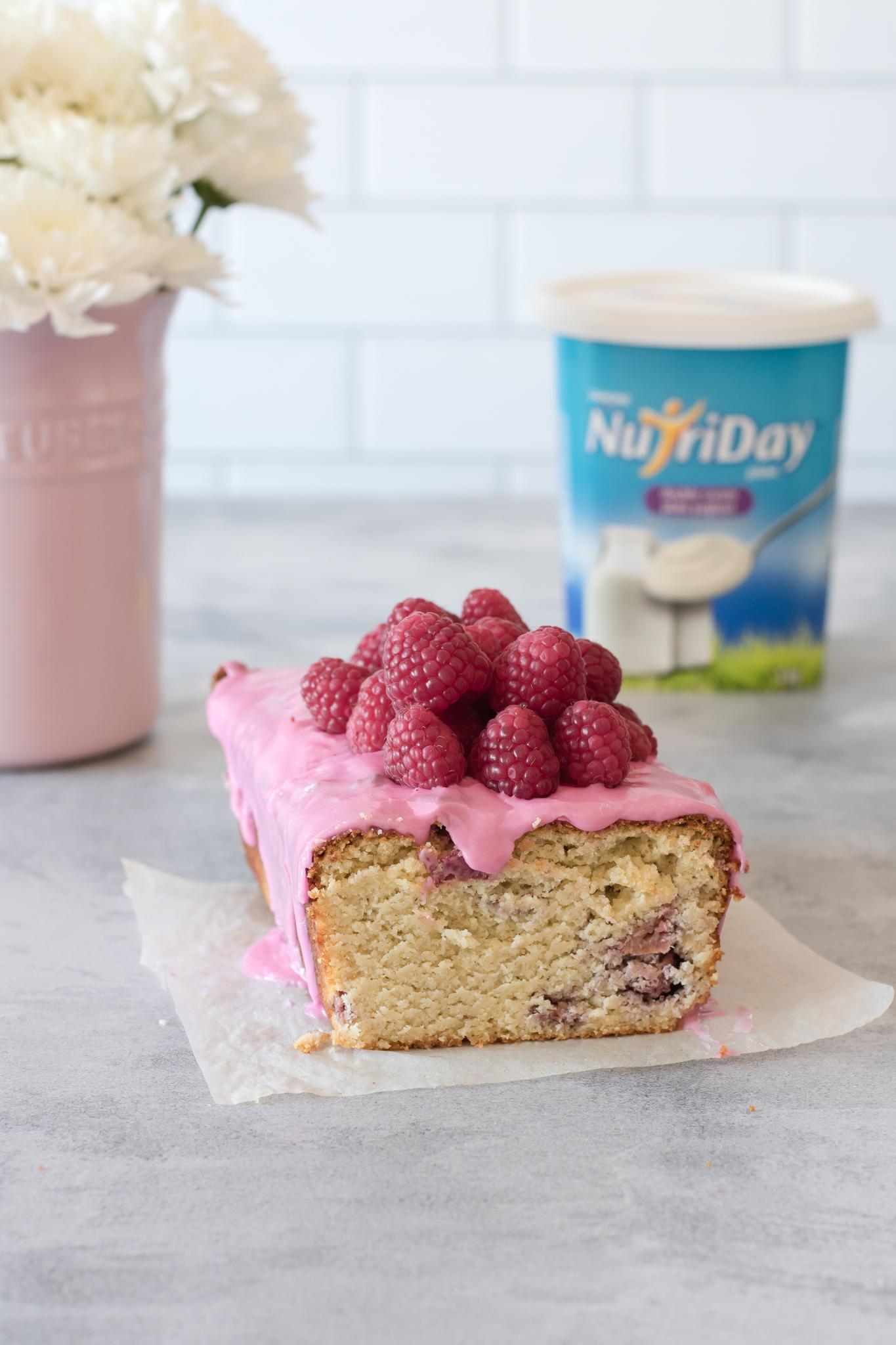 Yoghurt and Raspberry Loaf Cake