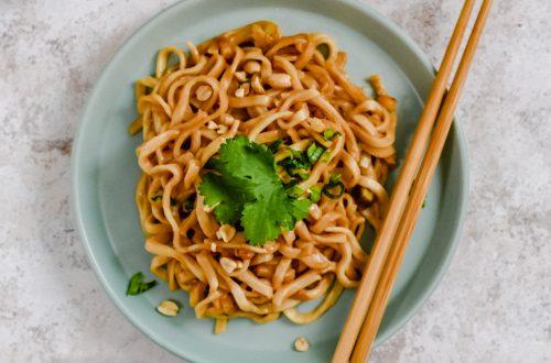 10 minute Peanut Butter Noodles