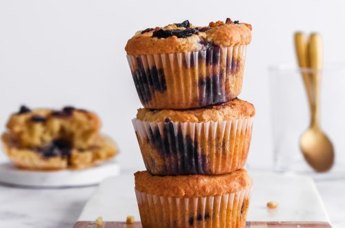 Small Batch Almond Flour Blueberry Muffins