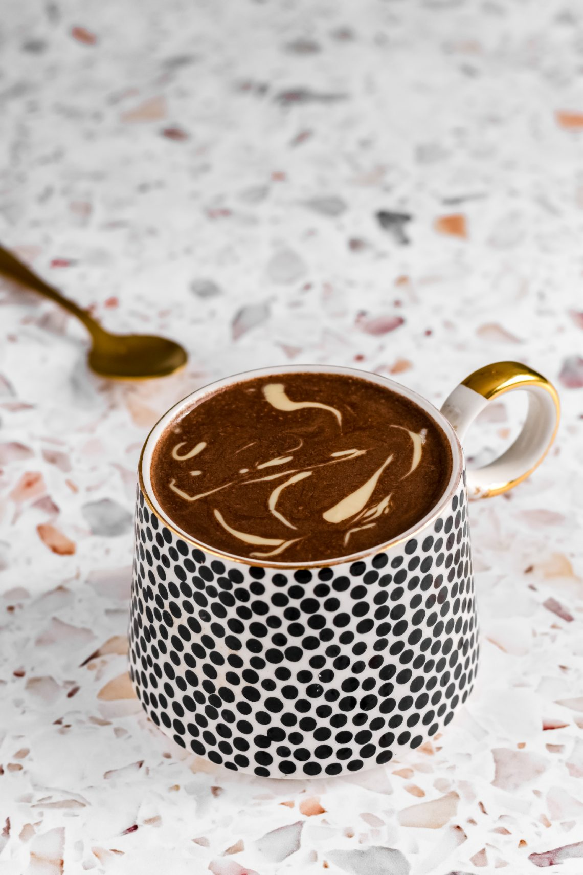Tahini and Carob Hot Chocolate
