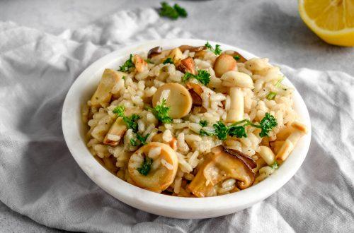 Chenin Blanc Mushroom Risotto