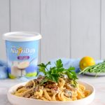 Mushroom and Yoghurt Fettuccine Alfredo