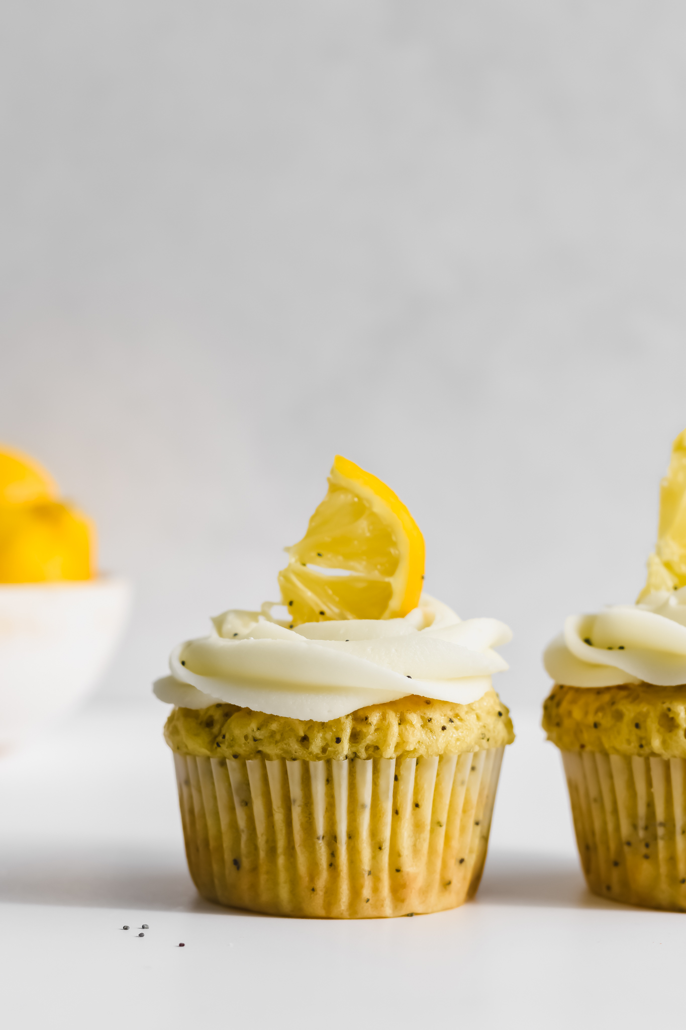 Lemon and Poppy Seed Muffins with Frosting