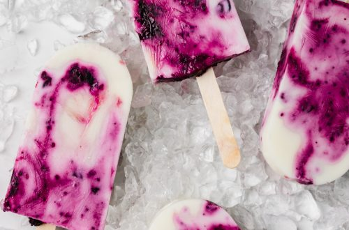 Blueberry and Chia Yoghurt Popsicles