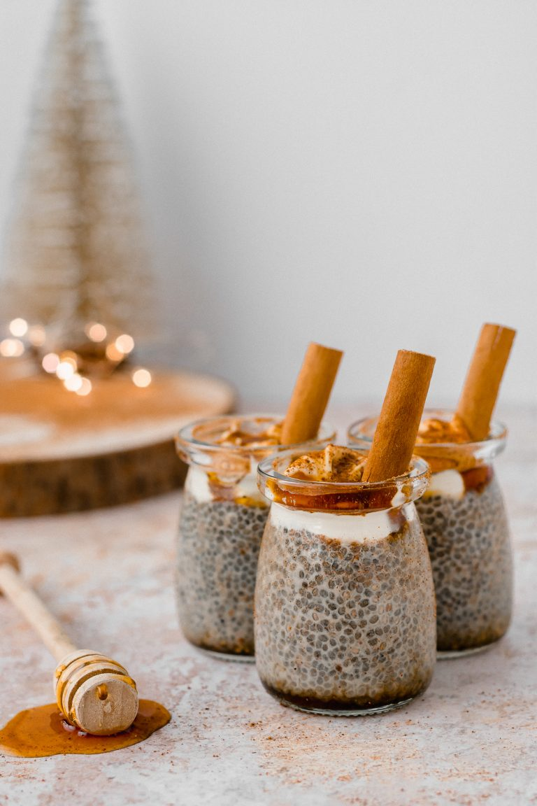 milk tart chia pudding
