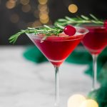 Christmas Cranberry Gin Cocktails