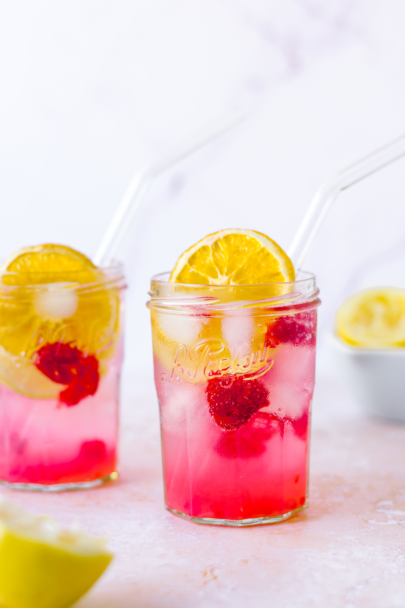 Healthier Lemon and Raspberry Lemonade